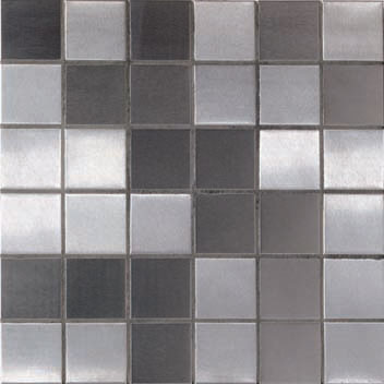 Mannington Accent Gallery Brushed Stainless Steel Porcelain Tile - A08MMM