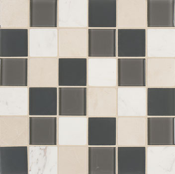 Mannington Accent Gallery Graphite Blend Porcelain Tile - A13MMM