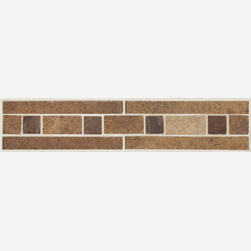 Mannington Accent Gallery Patchwork Brushed Suede Border Porcelain Tile - PW1