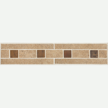 Mannington Accent Gallery Patchwork Fresh Linen Border Porcelain Tile - PW0