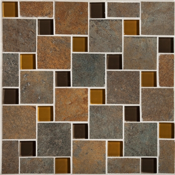 Mannington Accent Gallery Antiquity Iron Gate Pinwheel Mosaic Porcelain Tile - AQ0PMM