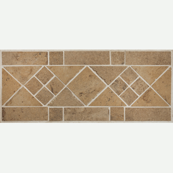 Mannington Accent Gallery Antiquity Parchment Border Porcelain Tile - AQ4B