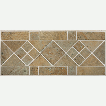Mannington Accent Gallery Antiquity Patina Border Porcelain Tile - AQ1B