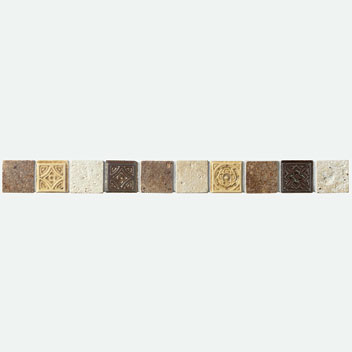 Mannington Accent Gallery Multi-Color Trim Porcelain Tile