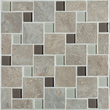 Mannington Accent Gallery Antiquity Weathered Stone Pinwheel Mosaic Porcelain Tile - AQ3PMM